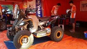 Yamaha Raptor 700, maquina que pilotea Mariano Bennazar